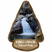 Scrapbook Customs - United States National Parks Collection - Laser Cut - Watercolor - Kings Canyon National Park