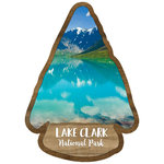 Scrapbook Customs - United States National Parks Collection - Laser Cut - Watercolor - Lake Clark National Park