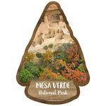 Scrapbook Customs - United States National Parks Collection - Laser Cut - Watercolor - Mesa Verde National Park