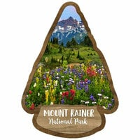Scrapbook Customs - United States National Parks Collection - Laser Cut - Watercolor - Mount Rainier National Park