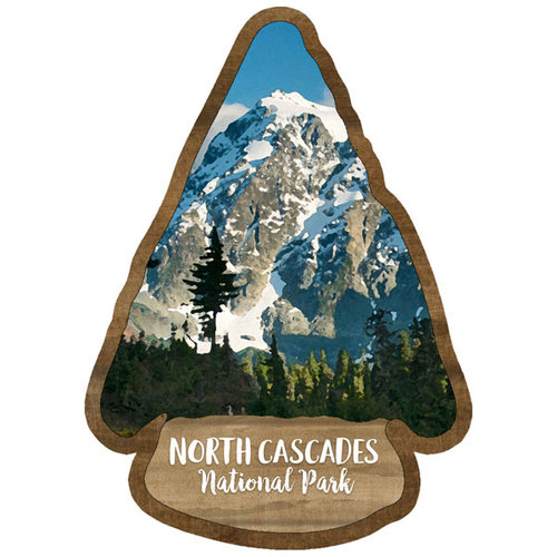 Scrapbook Customs - United States National Parks Collection - Laser Cut - Watercolor - North Cascades National Park