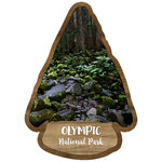 Scrapbook Customs - United States National Parks Collection - Laser Cut - Watercolor - Olympic National Park