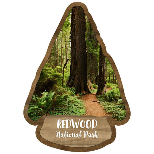 Scrapbook Customs - United States National Parks Collection - Laser Cut - Watercolor - Redwood National Park