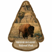 Scrapbook Customs - United States National Parks Collection - Laser Cut - Watercolor - Theodore Roosevelt National Park