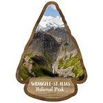 Scrapbook Customs - United States National Parks Collection - Laser Cut - Watercolor - Wrangell St. Elias National Park