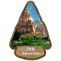 Scrapbook Customs - United States National Parks Collection - Laser Cut - Watercolor - Zion National Park