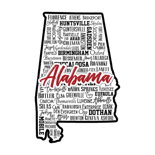 Scrapbook Customs - State Sights Collection - Laser Cut - Alabama