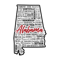 Scrapbook Customs - State Sights Collection - Laser Cut - Alabama