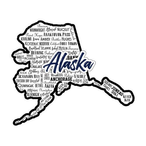 Scrapbook Customs - State Sights Collection - Laser Cut - Alaska