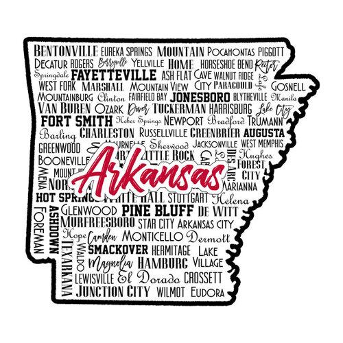 Scrapbook Customs - State Sights Collection - Laser Cut - Arkansas