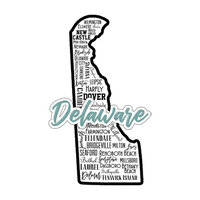 Scrapbook Customs - State Sights Collection - Laser Cut - Delaware