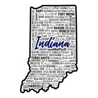 Scrapbook Customs - State Sights Collection - Laser Cut - Indiana