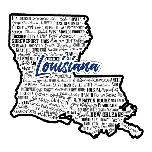 Scrapbook Customs - State Sights Collection - Laser Cut - Louisiana