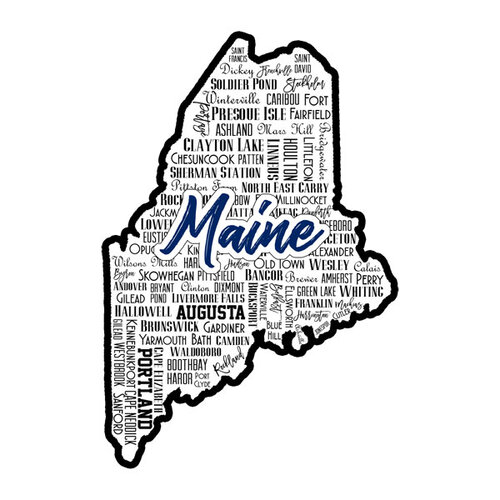 Scrapbook Customs - State Sights Collection - Laser Cut - Maine