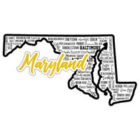 Scrapbook Customs - State Sights Collection - Laser Cut - Maryland