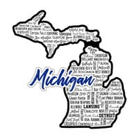 Scrapbook Customs - State Sights Collection - Laser Cut - Michigan