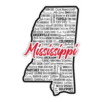 Scrapbook Customs - State Sights Collection - Laser Cut - Mississippi