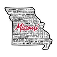 Scrapbook Customs - State Sights Collection - Laser Cut - Missouri