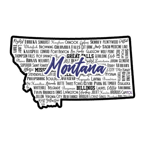 Scrapbook Customs - State Sights Collection - Laser Cut - Montana