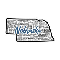 Scrapbook Customs - State Sights Collection - Laser Cut - Nebraska