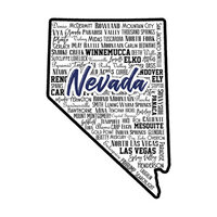 Scrapbook Customs - State Sights Collection - Laser Cut - Nevada