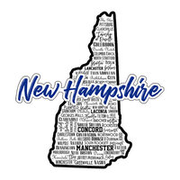 Scrapbook Customs - State Sights Collection - Laser Cut - New Hampshire