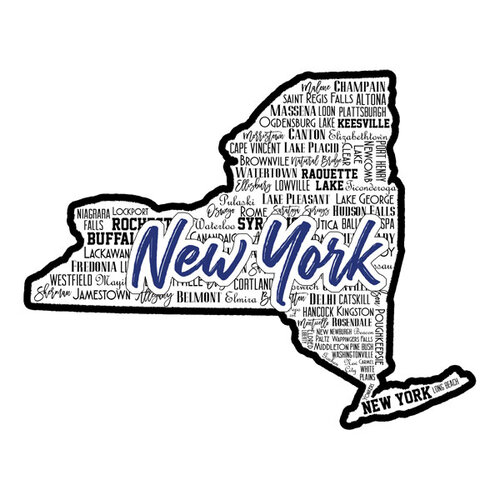 Scrapbook Customs - State Sights Collection - Laser Cut - New York
