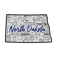 Scrapbook Customs - State Sights Collection - Laser Cut - North Dakota