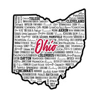 Scrapbook Customs - State Sights Collection - Laser Cut - Ohio