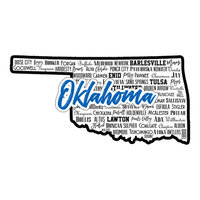 Scrapbook Customs - State Sights Collection - Laser Cut - Oklahoma