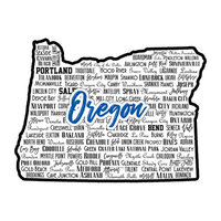 Scrapbook Customs - State Sights Collection - Laser Cut - Oregon