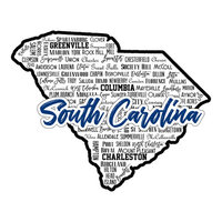 Scrapbook Customs - State Sights Collection - Laser Cut - South Carolina