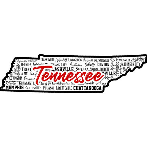 Scrapbook Customs - State Sights Collection - Laser Cut - Tennessee