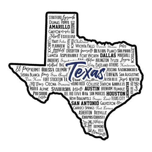 Scrapbook Customs - State Sights Collection - Laser Cut - Texas