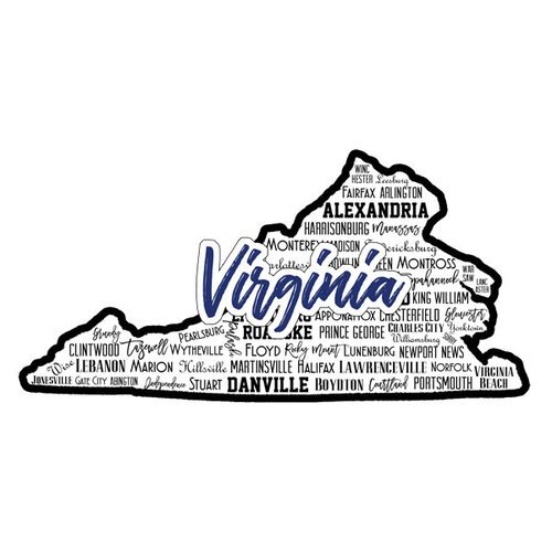 Scrapbook Customs - State Sights Collection - Laser Cut - Virginia