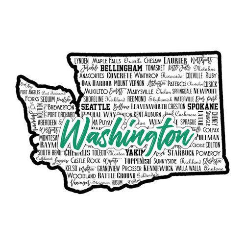 Scrapbook Customs - State Sights Collection - Laser Cut - Washington