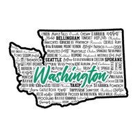 Scrapbook Customs - State Sights Collection - Laser Cut - Washington