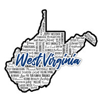 Scrapbook Customs - State Sights Collection - Laser Cut - West Virginia