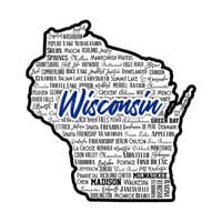 Scrapbook Customs - State Sights Collection - Laser Cut - Wisconsin