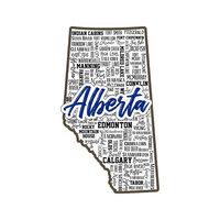 Scrapbook Customs - Sights Collection - Stickers - Alberta Canada