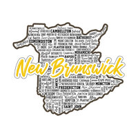 Scrapbook Customs - Sights Collection - Stickers - New Brunswick Canada