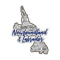 Scrapbook Customs - Sights Collection - Stickers - Newfoundland Canada