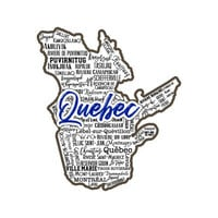 Scrapbook Customs - Sights Collection - Stickers - Quebec Canada