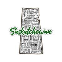 Scrapbook Customs - Sights Collection - Stickers - Saskatchewan Canada