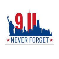 Scrapbook Customs - Sights Collection - Stickers - September 11th Never Forget