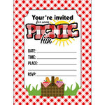 Scrapbook Customs - 4 x 5 Invites with Envelopes - Picnic Fun