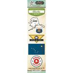 Scrapbook Customs - Vintage Label Collection - Cardstock Stickers - Alaska Vintage