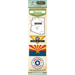Scrapbook Customs - Vintage Label Collection - Cardstock Stickers - Arizona Vintage