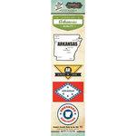 Scrapbook Customs - Vintage Label Collection - Cardstock Stickers - Arkansas Vintage