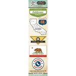 Scrapbook Customs - Vintage Label Collection - Cardstock Stickers - California Vintage